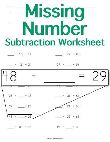 128 Best Math STEM Resources Images On Pinterest Math Stem   Algebraic  Subtraction Worksheets