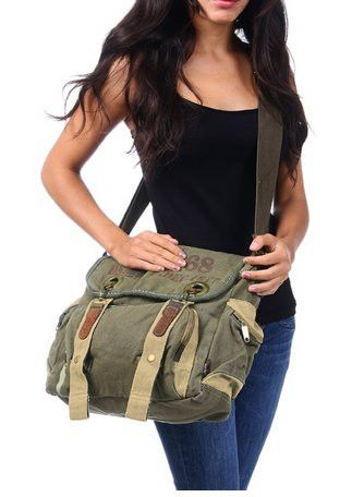 Army Messenger Bag #militarybag #canvasmessengerbag