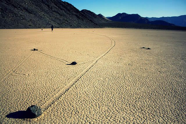 Sailing Stones, Death Valley - It's a little crazy to think about rocks moving on their own