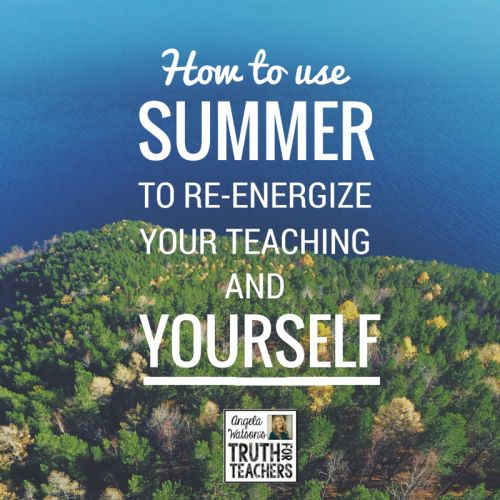 Summer break always goes by quicker than we imagined, leaving a long list of tasks undone. Learn how to create time for the things that matter most to you in life, and schedule in activities that are energizing for you as a person and as a teacher.