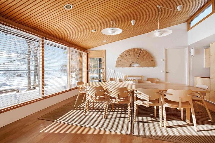 Un lugar acogedor para reunirse en el centro de datos de Google en Finlandia