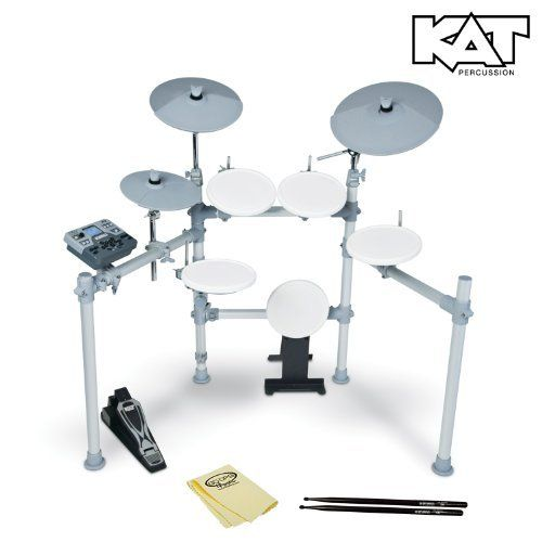 KAT Percussion High Performance KT2 Digital Drum Set - Electronic Drum Set Includes GoDpsMusic Polish Cloth & Vic Firth/ GoDpsMusic 5a Drumsticks by KAT Percussion. $699.00. The KAT KT2 is the ideal choice for the player who is looking for a digital drum set that features a broad set of features and the highest quality sounds at an exceptional price. The KT2 comes with over 450 studio-grade drum, cymbal and percussion sounds. In addition, there are 80 play-along track...