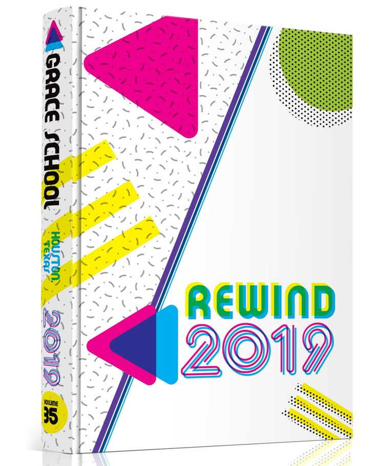 School Bookcover Design: The Grace School In Houston, TX Sent 2019 Back To The '80s
