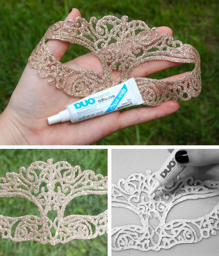 106 best mardi gras masquerade casino night images on pinterest glitter mask diy eyelash glue to make it stick to your face no tie or stick fun for a costume party or masquerade ball solutioingenieria Images
