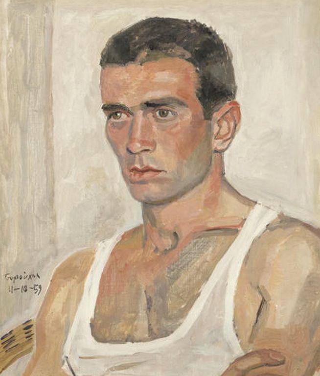 Τσαρούχης Γιάννης-Portrait of a dancer, 11-10-59 – Yannis Tsarouchis [1910-1989] | paletaart – Χρώμα & Φώς