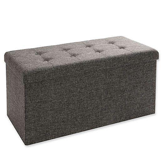 Seville Classics Foldable Storage Cube Ottoman Bed Bath Beyond Storage Ottoman Bench Storage Cube Ottoman Folding Ottoman