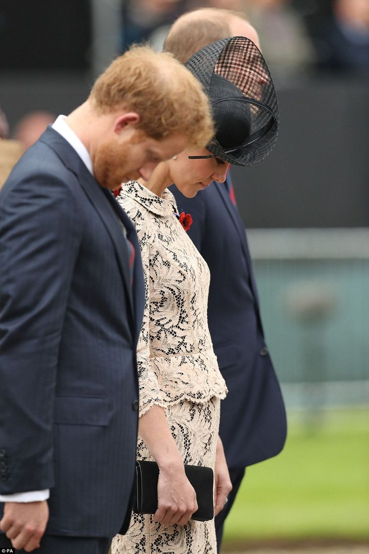 Duchess of Cambridge joins William at battle of the Somme service