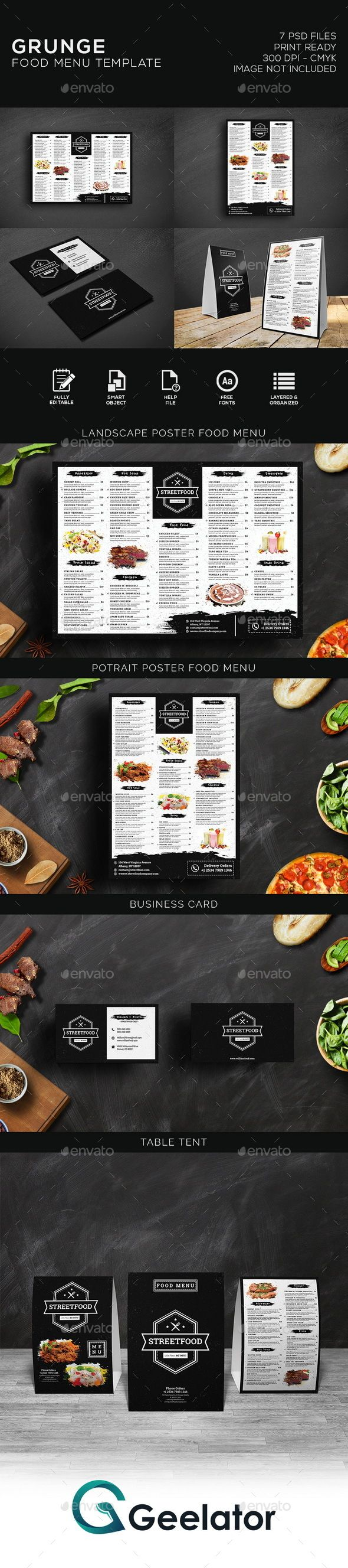 Grunge Food Menu #bar  #black  #business  #cafe  #cafemenu  #coffemenu  #creative  #deliciousmenu #elegant  #fastfood  #fastfoodmenu  #flyer #food  #foodmenu  #grungemenu  #menu  #menudesign  #menupack  #menutemplates  #poster  #printtemplate  #promotion #restaurant  #restaurantmenu  #retro  #steak  #street  #streetmenu  #tabletent  #vintage