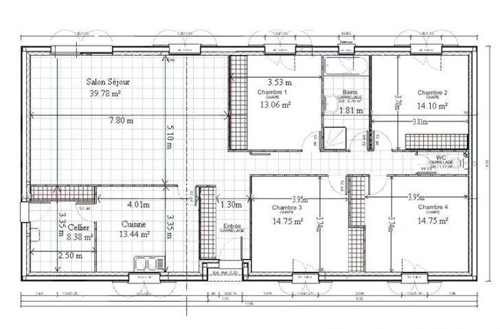 Plans De Maison Gratuit Plain Pied 4 Chambres Plan Modele Plein