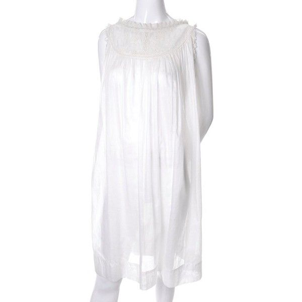 Iris Lingerie Sylvia Pedlar B. Altman Vintage White Nightgown Lace... (11950 RSD) ❤ liked on Polyvore featuring intimates, sleepwear, nightgowns, lingerie sleepwear, lace babydoll lingerie, babydoll nightgown, lace lingerie and lacy lingerie