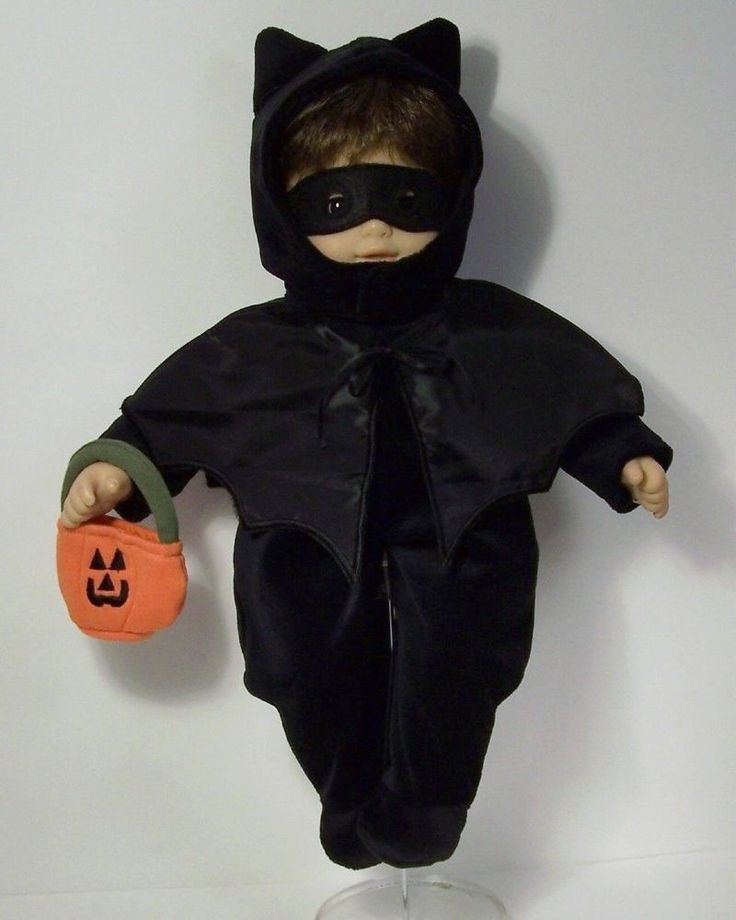 BLACK Bat Halloween Costume Suit Bag Mask Cape Doll Clothes For Bitty Baby (Debs | Dolls & Bears, Dolls, Clothes & Accessories | eBay!