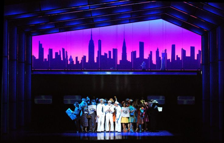On The Town Lyric Theatre Set And Projections By Beowulf