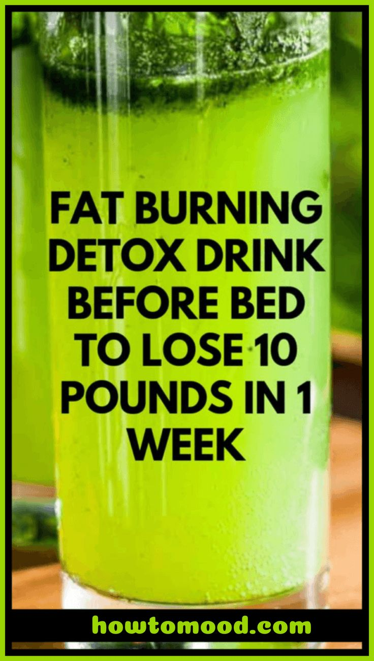 Fat Burning Detox Drink Before Bed To Lose 10 Pounds In 7 Days