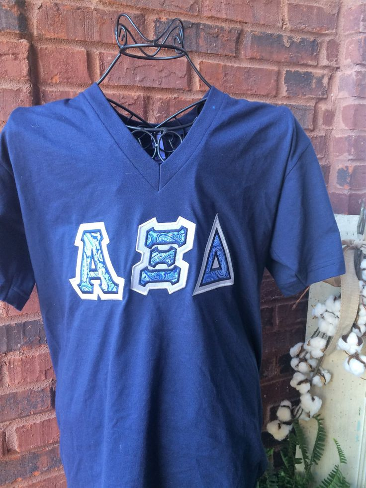 Sorority Letter Shirt American Apparel   Alpha Xi Delta, Chi Omega, Gamma Phi…