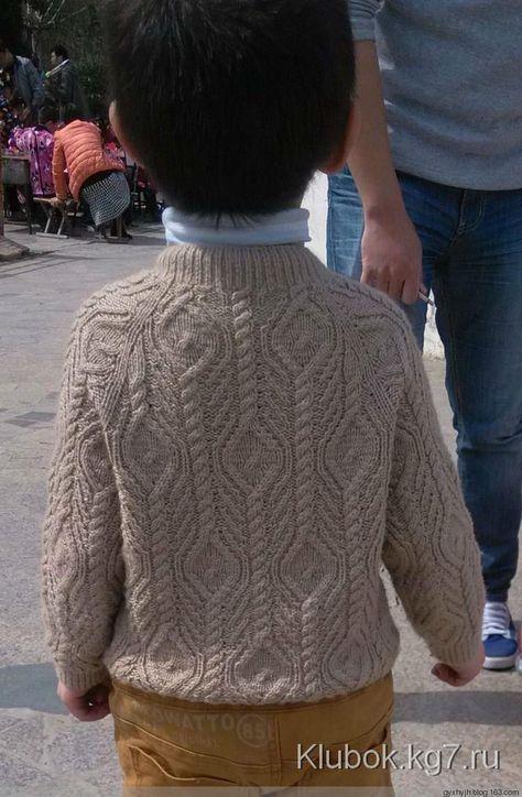 Красивый узор для детского кардигана. | Клубок