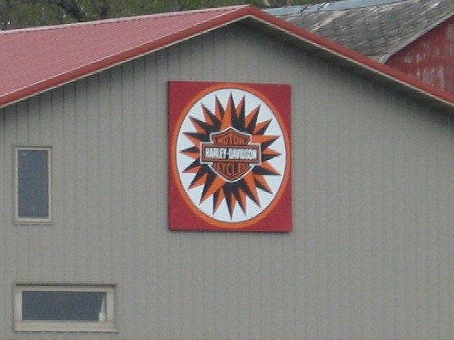 Harley Davidson Barn Quilt- Lohrville, IA  Visit & Like our Facebook page! https://www.facebook.com/pages/Rustic-Farmhouse-Decor/636679889706127