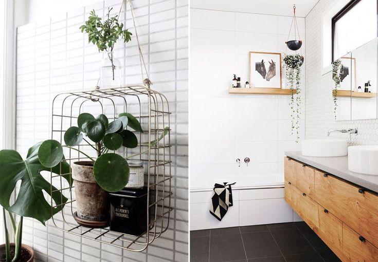 Indret dit badeværelse med grønne planter, bløde tekstiler og fin kunst for at skabe en god stemning.