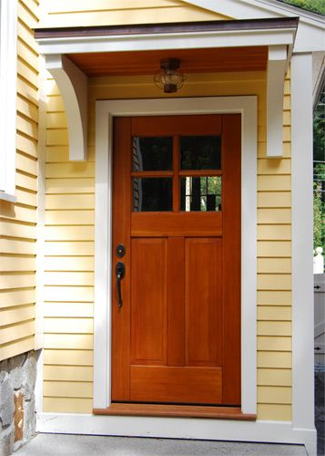 Craftsman Traditional Carriage Doors, for back kitchen and pool room entrances?