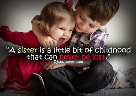 brother Sister Love Quotes baby guy girl Little bit of childhood