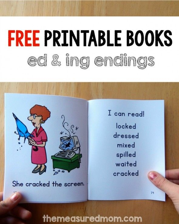 Free phonics books for ed and ing words!
