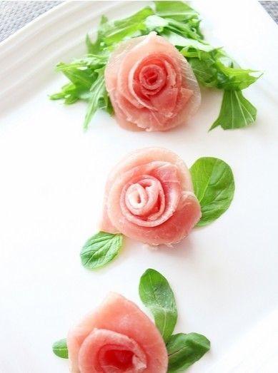 生ハムの花の飾り切り☆お祝いおもてなしに by みききみき [クックパッド] 簡単おいしいみんなのレシピが224万品