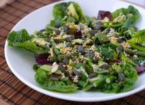 Nyt en grønnsalat med frø!