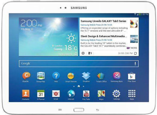 Samsung Galaxy Tab 3 25,7 cm (10,1 Pollici) Tablet (Intel Atom Z2560, 1,6GHz, 1GB RAM, 16GB memoria, 3,2 Megapixel Camera, 3G, WiFi, Android...