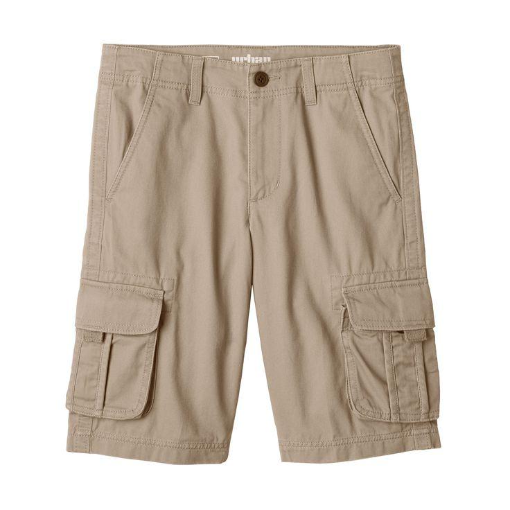 Boys 8-20 Urban Pipeline® Messenger Cargo Twill Shorts, Boy's, Size: 18, Lt Beige