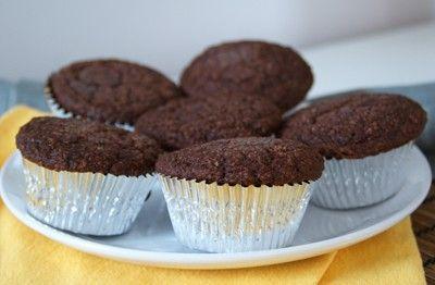 Dukan oat bran chocolate muffins