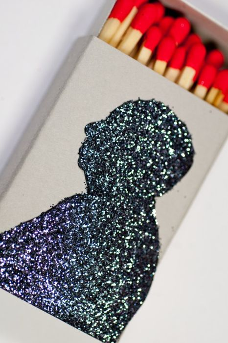 Matches + Glitter + Alfred Hitchcock = Awesome.