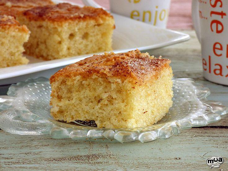 Torta boba o coca de llanda. Es un bizcocho muy tierno y jugoso, típico de la Comunidad Valenciana. Un resultado delicioso con unos ingredientes muy básicos