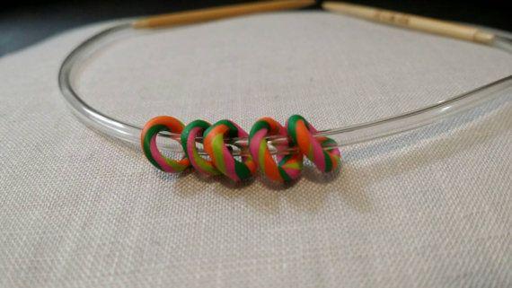 $4.00 Snag-Free Stitches Stitch Markers - Psychadellic - by seetheworldtogether on Etsy