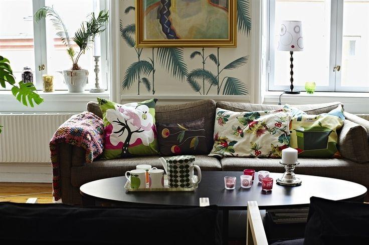 Les 25 meilleures id es de la cat gorie papier peint ikea sur pinterest papier peint motif - Deco woonkamer behang ...