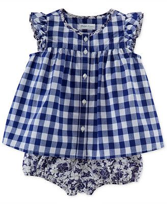 Ralph Lauren Baby Girls' Gingham Top & Bloomers
