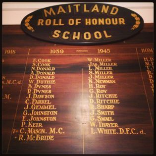 Maitland School Roll of Honour - Historypin | Walking with an Anzac