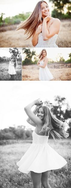 Erica Houck Photography senior dancing shoot photoshoot session portrait windy field