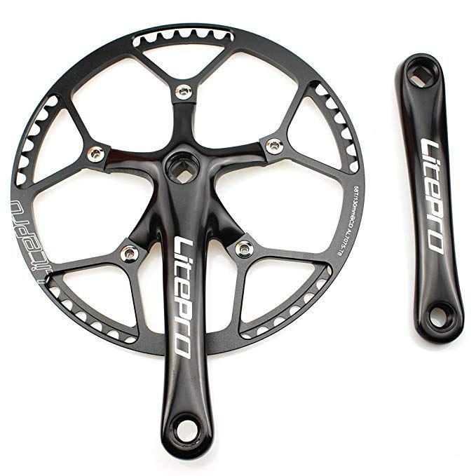 Litepro Square MTB Bicycle Hole Crankset 170mm Crank Arm 130BCD Bike Crankset