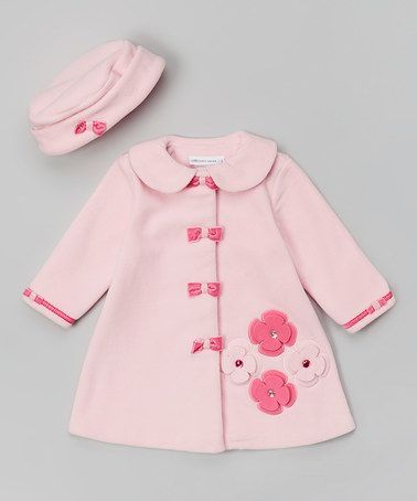 Look what I found on #zulily! Light & Dark Pink Bow Hat & Coat - Infant, Toddler & Girls by Gerson & Gerson #zulilyfinds