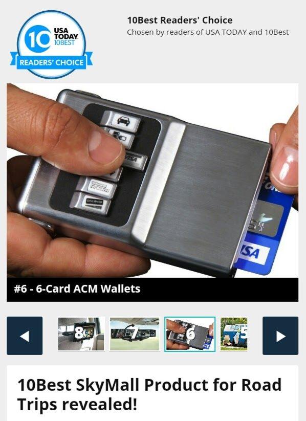 Az acm® wallet a Sky Mall-ban