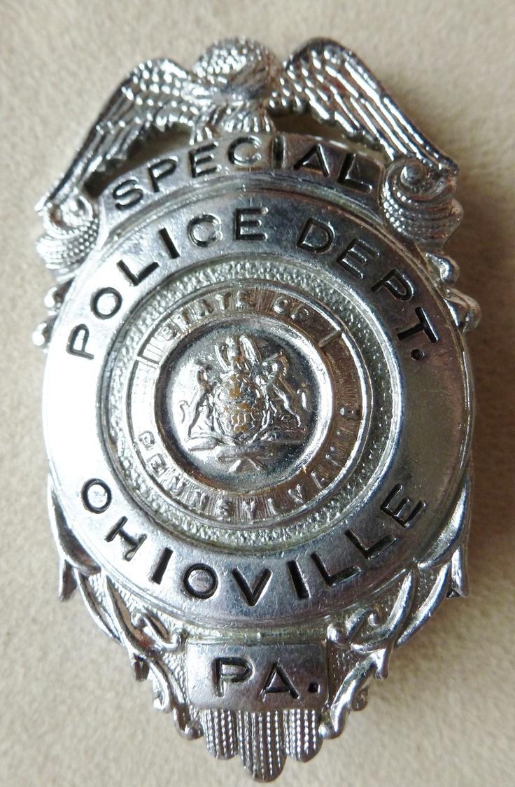 Police cap badges ga rel hat badges page 1 garel - Vintage Ohioville Pa Special Police Badge Obsolete Antique