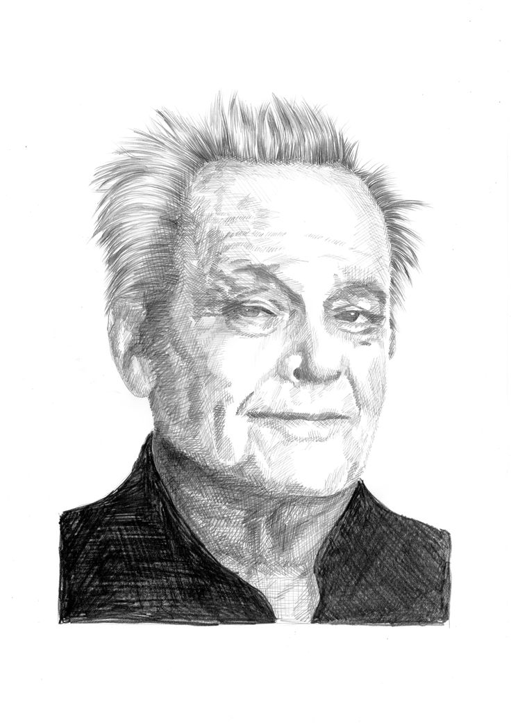 Rysunek ołówkiem na papierze, portret, Jack Nicholson