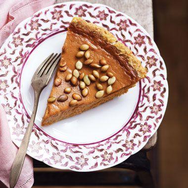 Fresh Pumpkin Pie with Salty Roasted Pepitas Recipe  | Epicurious.com