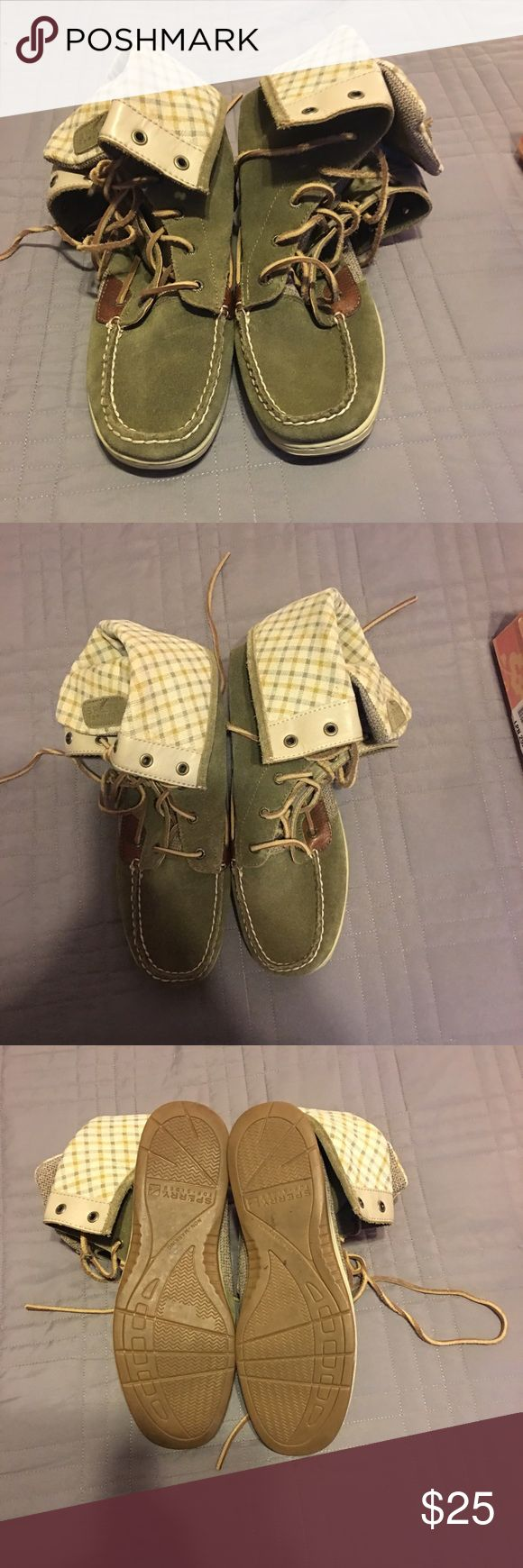 Sperry high tops Green and plaid, Sperry high tops. Size 10. Sperry Top-Sider Shoes