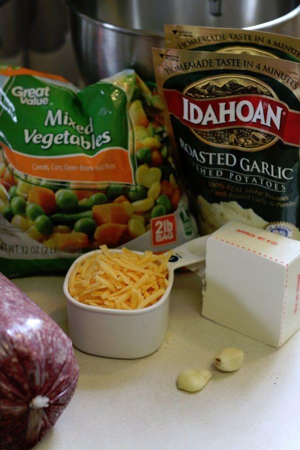 Super easy shephards pie Recipe ingredients