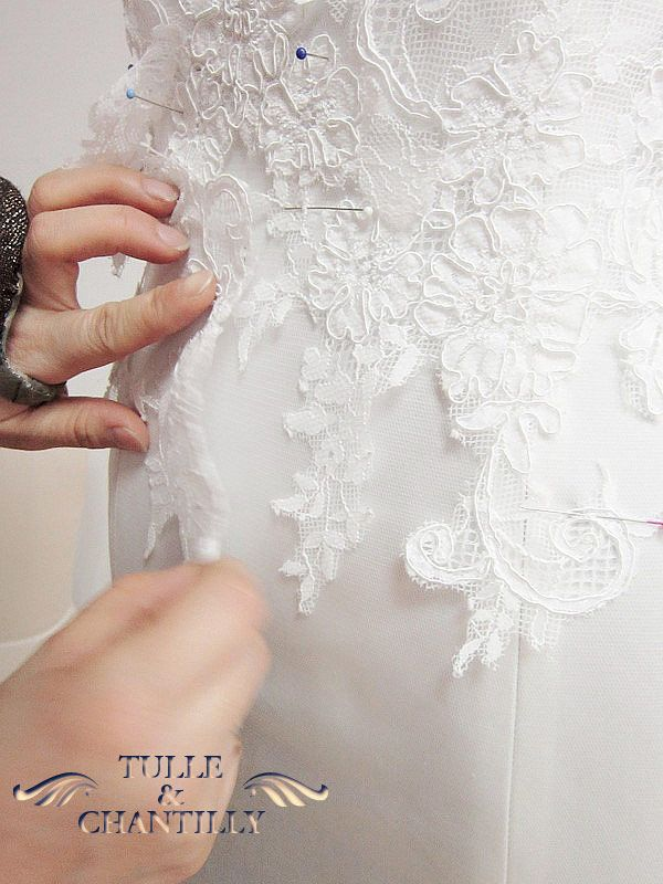 {Design Your Wedding Dress} Custom Made Strappy Tiered Lace Wedding Dress | http://www.tulleandchantilly.com/blog/design-your-wedding-dress-custom-made-strappy-tiered-lace-wedding-dress/