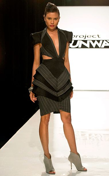 Project runway Kini's look season 13 episode 4. not my thing, but a job well done