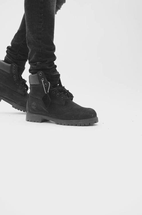 timberland 6 premium waterproof boots - men's jet black