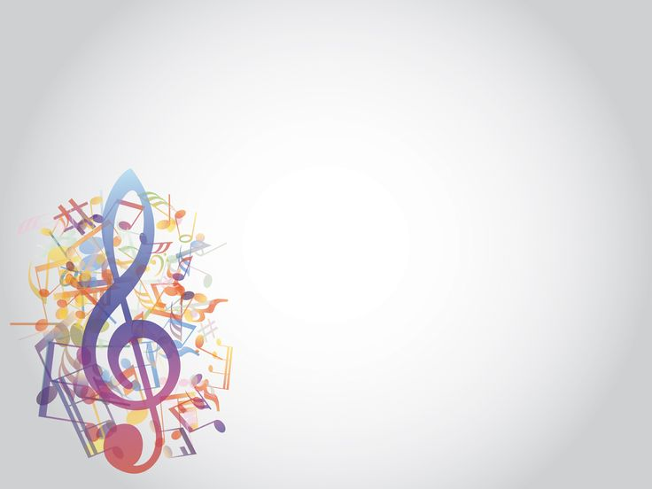 Minimalistic Colorful Music Notes Wallpaper