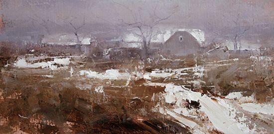Autumn Mist by Tibor Nagy Oil ~ 10 x 20