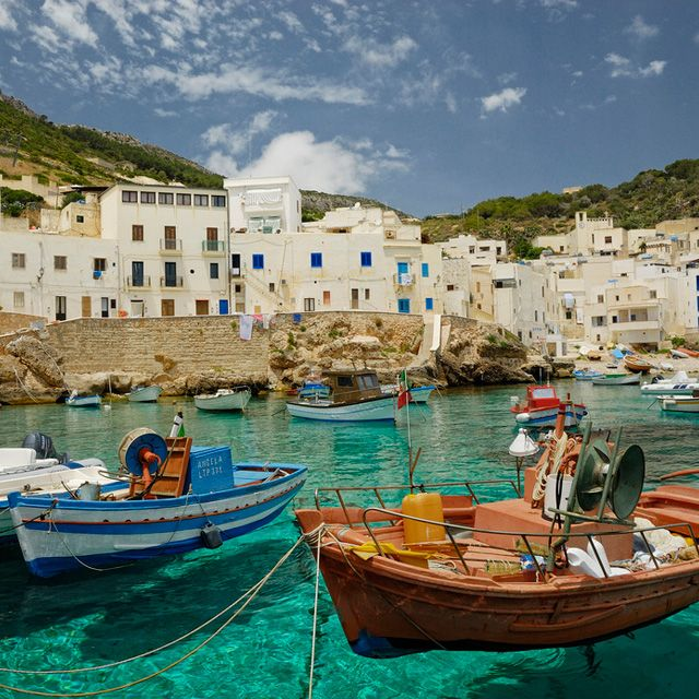 Turquoise waters in Sicily